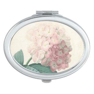 ヴィンテージのアジサイの誕生日のコンパクトの鏡