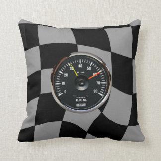 ヴィンテージのアナログの自動回転速度計の正方形の装飾用クッション クッション