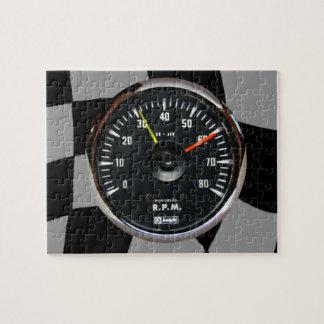 ヴィンテージのアナログの自動回転速度計の競争 ジグソーパズル