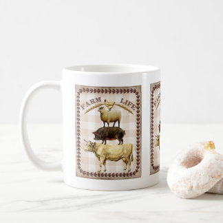 ヴィンテージのアニマル・ファームの生命ノスタルジックなコーヒー・マグ コーヒーマグカップ
