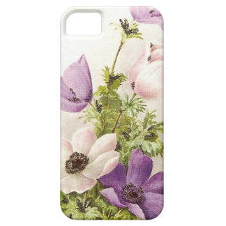 ヴィンテージのアネモネの花 iPhone SE/5/5s ケース