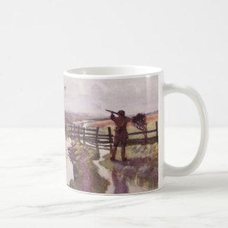 ヴィンテージのアヒルの狩りの猟犬のスポーツマンのコーヒー・マグ コーヒーマグカップ