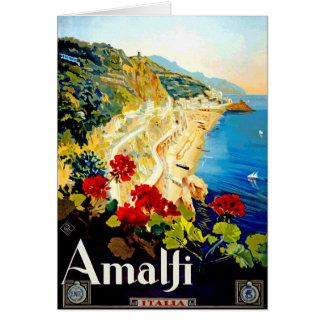 ヴィンテージのアマルフィイタリアヨーロッパ旅行 カード