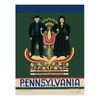ヴィンテージのアマン派のペンシルバニアのコスチューム及び技術 ポストカード