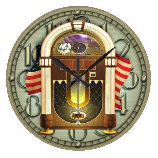 ヴィンテージのアメリカのジュークボックスの柱時計 ラージ壁時計
