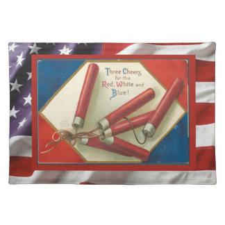ヴィンテージのアメリカの愛国心が強いの7月の4日爆竹 ランチョンマット