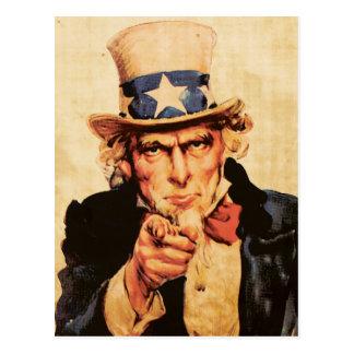 ヴィンテージのアメリカの愛国心が強い米国市民 ポストカード