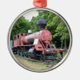 ヴィンテージのアメリカの蒸気機関車 メタルオーナメント
