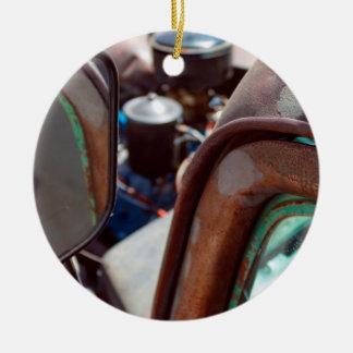 ヴィンテージのアメリカの錆ついた車の陶磁器のオーナメント セラミックオーナメント