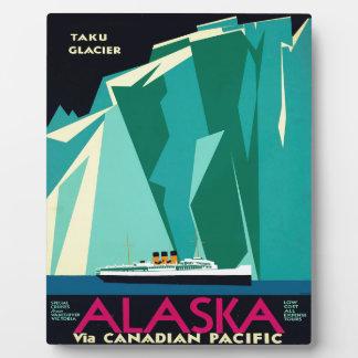 ヴィンテージのアラスカ旅行 フォトプラーク
