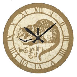 ヴィンテージのアリスチェシャー猫 ラージ壁時計