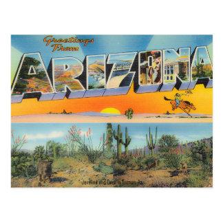 ヴィンテージのアリゾナの郵便はがきのコラージュ ポストカード