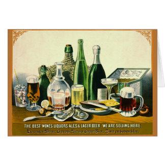 ヴィンテージのアルコール飲料の広告1871年 カード