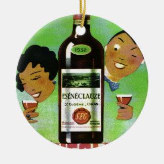 ヴィンテージのアルジェリアのワインのラベル セラミックオーナメント