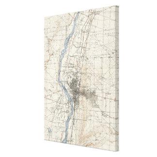 ヴィンテージのアルバカーキニューメキシコの地形図 キャンバスプリント