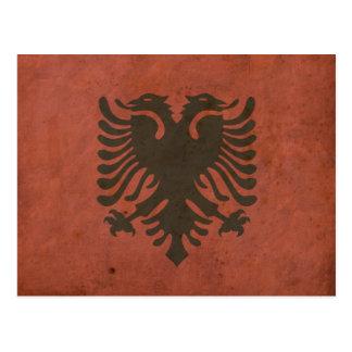 ヴィンテージのアルバニアの旗 ポストカード