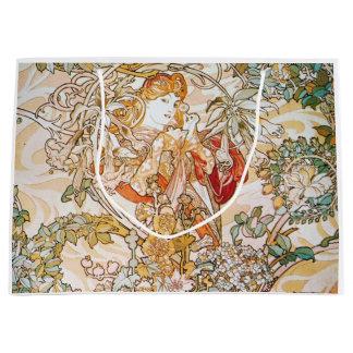 ヴィンテージのアルフォンス島のミュシャの女神 ラージペーパーバッグ