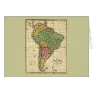 ヴィンテージのアンソニーFinley著1826年の南アメリカの地図 カード