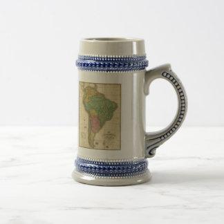 ヴィンテージのアンソニーFinley著1826年の南アメリカの地図 ビールジョッキ