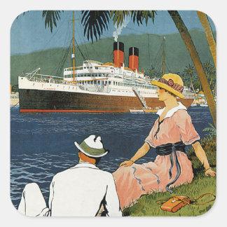ヴィンテージのアンチル諸島の巡航の芸術 スクエアシール