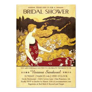 ヴィンテージのアンティークのブライダルシャワー招待状 カード