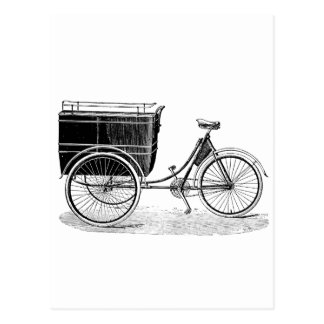 ヴィンテージのアンティークの三輪車 ポストカード