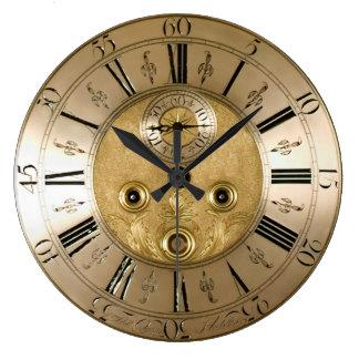 ヴィンテージのアンティークの時計 ラージ壁時計