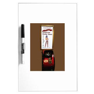 ヴィンテージのアーケード機械ピンナップの女の子 ホワイトボード