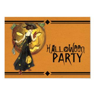 ヴィンテージのアールデコのハローウィンパーティ カード