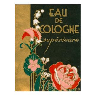 ヴィンテージのアールデコのフランスのな香水のラベル ポストカード