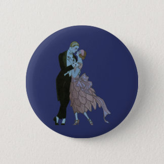 ヴィンテージのアールデコの新婚者、愛結婚式のダンス 5.7CM 丸型バッジ