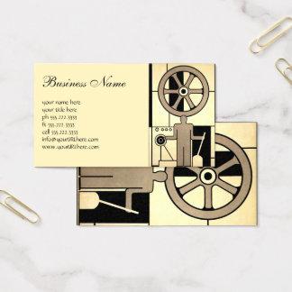 ヴィンテージのアールデコビジネス車輪および機械労働者 名刺