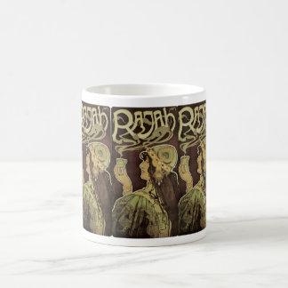ヴィンテージのアールヌーボーのカフェRajahの女性の飲む茶 コーヒーマグカップ