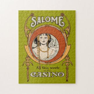 ヴィンテージのアールヌーボーの劇場のカジノの女性のデザイン ジグソーパズル