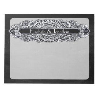 ヴィンテージのアールヌーボーの結婚 ノートパッド