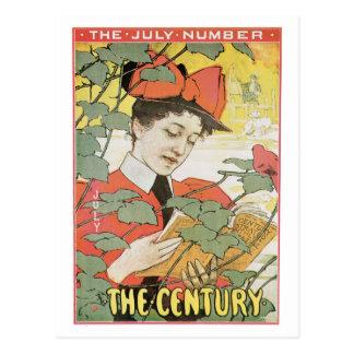 ヴィンテージのアールヌーボー世紀の雑誌7月 ポストカード