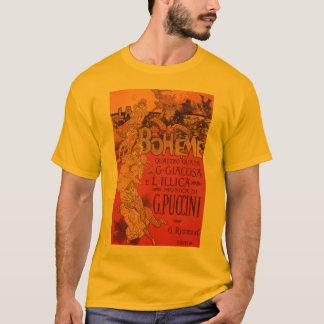 ヴィンテージのアールヌーボー音楽、LaのBohemeオペラ1896年 Tシャツ