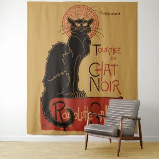 ヴィンテージのアールヌーボーLe Chat Noirの黒猫 タペストリー