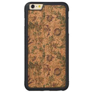 ヴィンテージのアールヌーボーTeazleの花 CarvedチェリーiPhone 6 Plusバンパーケース