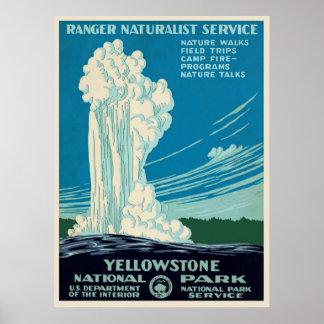 ヴィンテージのイエローストーン公園旅行ポスター ポスター
