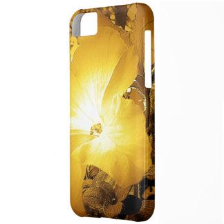 ヴィンテージのイエロー・ゴールドのハイビスカスのiPhone 5cケース iPhone5Cケース