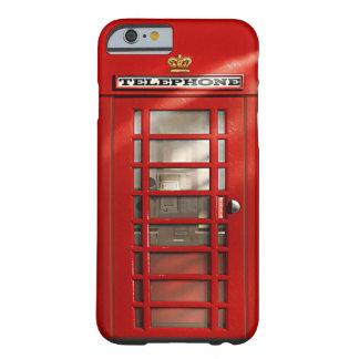 ヴィンテージのイギリスの赤い電話ボックスのカスタムの箱 iPhone 6 ベアリーゼアケース