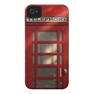 ヴィンテージのイギリスの赤い電話ボックス Case-Mate iPhone 4 ケース