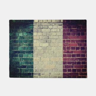 ヴィンテージのイタリアの旗 ドアマット