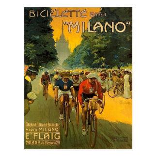 ヴィンテージのイタリアンな自転車の広告 ポストカード