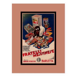 ヴィンテージのイタリアンな菓子の広告 ポストカード