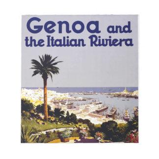 ヴィンテージのイタリアンな観光事業ポスター場面 ノートパッド