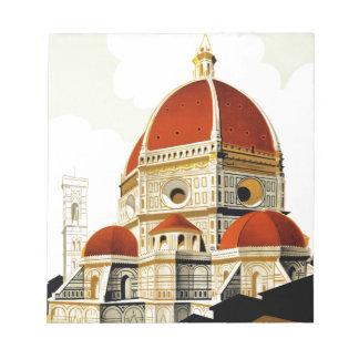 ヴィンテージのイタリアンな観光事業ポスター ノートパッド