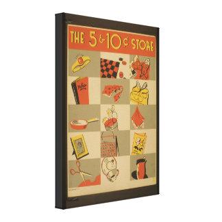ヴィンテージのイメージの安物のキャンバスプリントの部分 キャンバスプリント