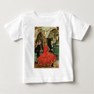 ヴィンテージのイメージ、スペイン、フラメンコのダンサー ベビーTシャツ